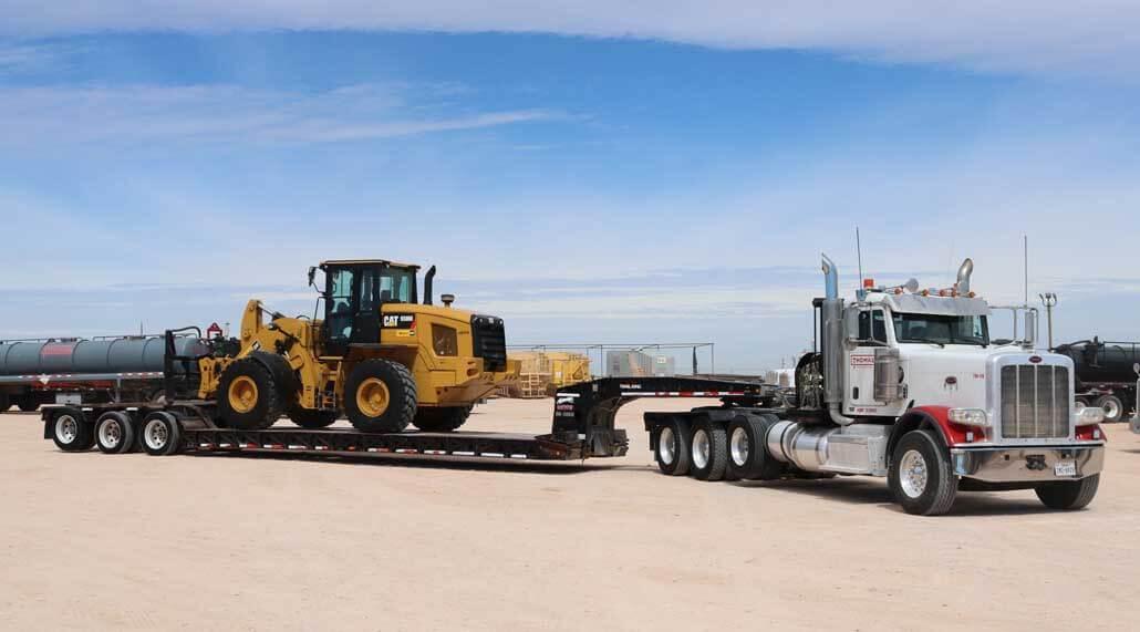 Thomas Trucking CAT Forklift & Operator